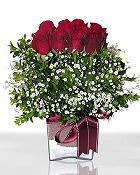 Erzincan çiçek mağazası , çiçekçi adresleri  11 adet gül mika yada cam - anneler günü seçimi -