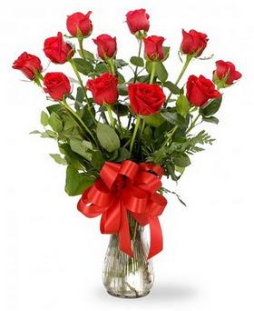 Erzincan çiçek mağazası , çiçekçi adresleri  12 adet kırmızı güllerden vazo tanzimi