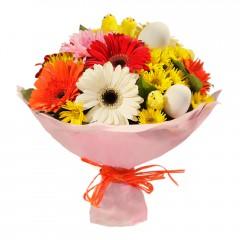 Karışık mevsim buketi Mevsimsel çiçek  Erzincan çiçek gönderme sitemiz güvenlidir