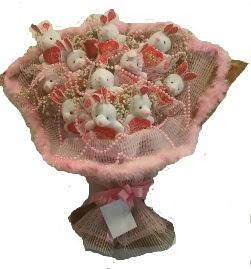 12 adet tavşan buketi  Erzincan çiçekçiler