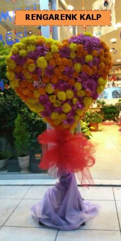 Ankara mevsim çiçeklerinden kalp perförje  Erzincan çiçek online çiçek siparişi