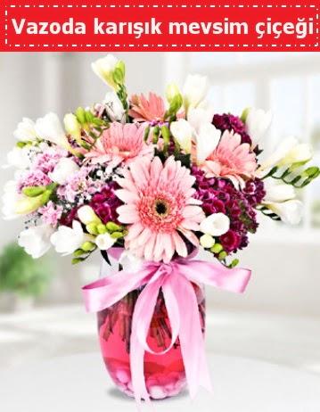 Vazoda karışık mevsim çiçeği  Erzincan çiçek mağazası , çiçekçi adresleri