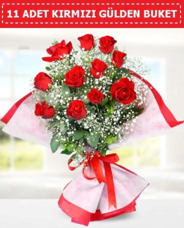 11 Adet Kırmızı Gül Buketi  Erzincan çiçek gönderme sitemiz güvenlidir