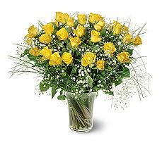 Erzincan online çiçekçi , çiçek siparişi  15 adet sarigül mika yada cam vazoda