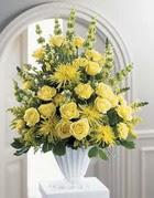 Erzincan online çiçekçi , çiçek siparişi  sari güllerden sebboy tanzim çiçek siparisi