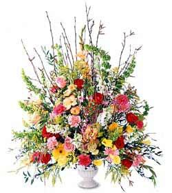 Erzincan çiçekçi mağazası  mevsim çiçekleri aranjman sepette