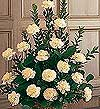 Erzincan çiçek satışı  Beyaz karanfillerden sepet