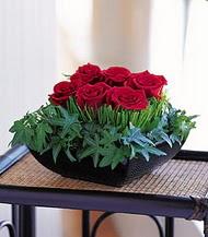 Erzincan online çiçekçi , çiçek siparişi  10 adet kare mika yada cam vazoda gül tanzim
