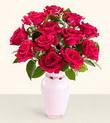 Erzincan güvenli kaliteli hızlı çiçek  10 kirmizi gül cam yada mika vazo tanzim