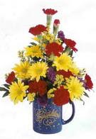 Erzincan İnternetten çiçek siparişi  seramikte mevsim çiçekleri