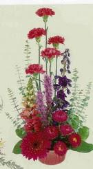Erzincan yurtiçi ve yurtdışı çiçek siparişi  mevsim çiçeklerinden sepet