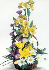 Erzincan çiçek , çiçekçi , çiçekçilik  Sepette mevsim çiçekleri