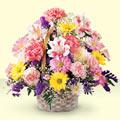 Erzincan çiçek , çiçekçi , çiçekçilik  sepet içerisinde gül ve mevsim