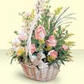 Erzincan ucuz çiçek gönder  sepette pembe güller