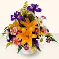 Erzincan ucuz çiçek gönder  sepet içinde karisik çiçekler