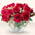 Erzincan çiçek siparişi sitesi  mika yada cam içerisinde 10 gül - sevenler için ideal seçim -