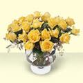 Erzincan çiçek online çiçek siparişi  11 adet sari gül cam yada mika vazo içinde