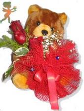 oyuncak ayi ve gül tanzim  Erzincan İnternetten çiçek siparişi