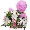 balon ve çiçeklerle tanzim  Erzincan çiçek yolla , çiçek gönder , çiçekçi