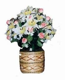 yapay karisik çiçek sepeti   Erzincan internetten çiçek satışı