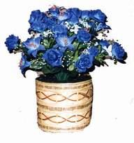 yapay mavi çiçek sepeti  Erzincan çiçek satışı