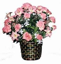 yapay karisik çiçek sepeti  Erzincan çiçek siparişi sitesi