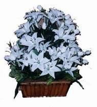 yapay karisik çiçek sepeti   Erzincan çiçek gönderme