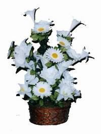 yapay karisik çiçek sepeti  Erzincan çiçek yolla