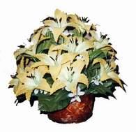 yapay karisik çiçek sepeti   Erzincan online çiçekçi , çiçek siparişi
