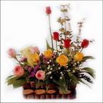 sepette karisik aranjman   Erzincan çiçekçi mağazası