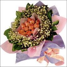 11  adet  gül ve   elyaflar   Erzincan yurtiçi ve yurtdışı çiçek siparişi