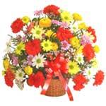karisik renkli çiçek sepet   Erzincan 14 şubat sevgililer günü çiçek