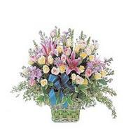 sepette kazablanka ve güller   Erzincan hediye sevgilime hediye çiçek