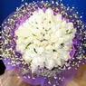 71 adet beyaz gül buketi   Erzincan çiçek mağazası , çiçekçi adresleri