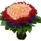 71 adet renkli gül buketi   Erzincan kaliteli taze ve ucuz çiçekler