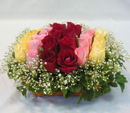 15 adet reprenkli gül sepeti   Erzincan anneler günü çiçek yolla