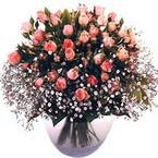 büyük cam fanusta güller   Erzincan anneler günü çiçek yolla