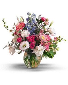 Erzincan çiçek , çiçekçi , çiçekçilik  karisik mevsim demeti vazo içerisinde