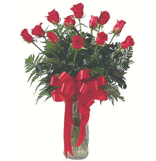 12 adet gül cam içerisinde  Erzincan çiçek satışı