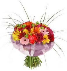 karisik gerbera demeti 15 adet gerberalardan  Erzincan yurtiçi ve yurtdışı çiçek siparişi