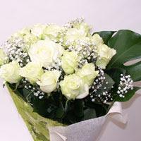 Erzincan güvenli kaliteli hızlı çiçek  11 adet sade beyaz gül buketi