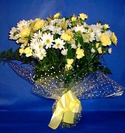 Erzincan güvenli kaliteli hızlı çiçek  sade mevsim demeti buketi sade ve özel