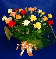 Erzincan güvenli kaliteli hızlı çiçek  13 adet karisik renkli güller