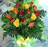 13 adet karisik gül buketi demeti   Erzincan çiçek , çiçekçi , çiçekçilik