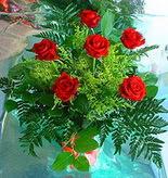 6 adet kirmizi gül buketi   Erzincan çiçek gönderme