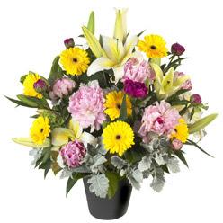 karisik mevsim çiçeklerinden vazo tanzimi  Erzincan çiçek , çiçekçi , çiçekçilik