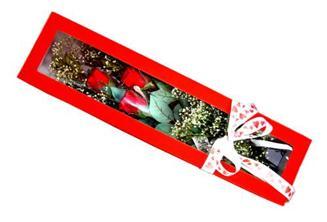 Erzincan güvenli kaliteli hızlı çiçek  Kutuda 3 adet gül