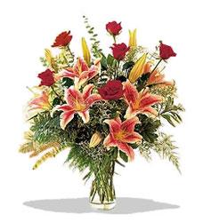 Erzincan internetten çiçek satışı  Pembe Lilyum ve Gül