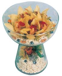 Erzincan online çiçekçi , çiçek siparişi  Cam içerisinde 4 adet kandil orkide