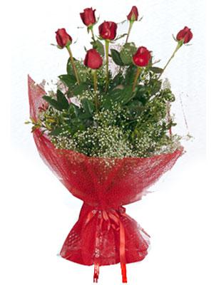 Erzincan internetten çiçek satışı  7 adet gülden buket görsel sik sadelik